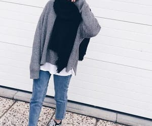 hijab, outfit, and vans image