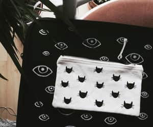 cat lady, tote bag, and cats image
