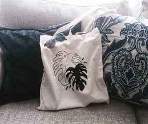 aesthetics, plants, and tote bag image