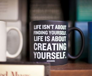 life, quote, and cup image