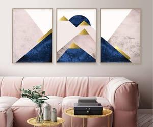 mountains, navy blush art, and blush navy art image