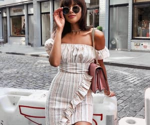 dress, girls, and stripes image