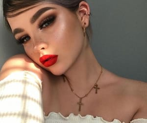 glowing, highlight, and makeup image