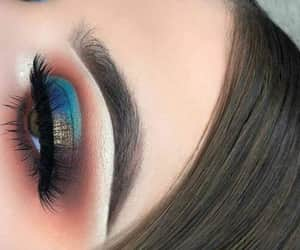 make up, maquillaje, and ojos image