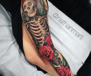 tatto, ink, and rose image