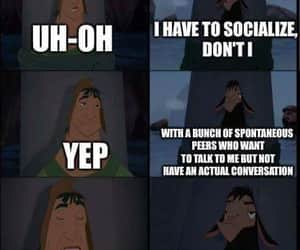 introvert and socialize image