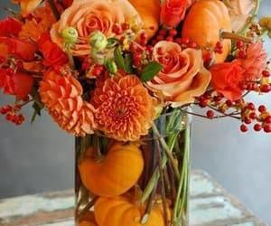 autumn, floral arrangement, and flowers image