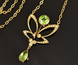 edwardian, natural, and necklace image