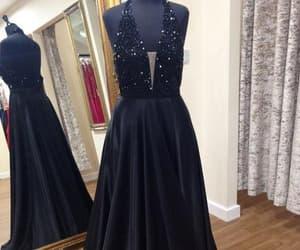 black prom dress and halter prom dress image