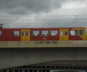 love, grunge, and train image