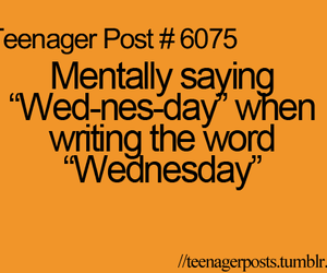 wednesday and teenager post image
