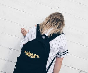 backpack, beautiful, and blonde image