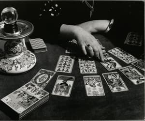 black and white, tarot, and cards image