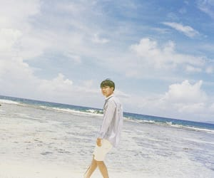 army, golden hyung, and beach image