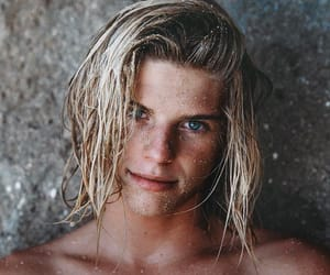 blond hair, male model, and male image