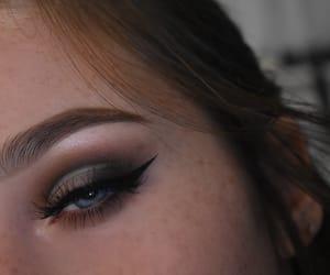 makeup, makeup artist, and cut crease image