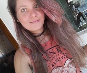 garota, olhos azuis, and cabelo rosa image