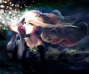 anime, stars, and magic image