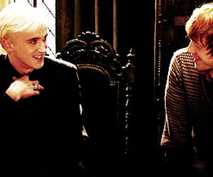 actor, draco malfoy, and gif image