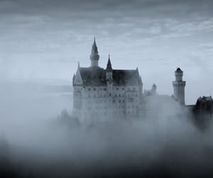 castle, clouds, and fog image