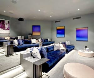 home theater, interiors, and homes image