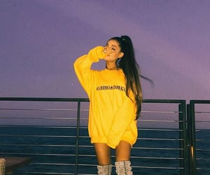ariana grande, ariana, and yellow image
