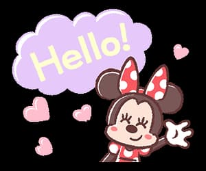 disney, hello, and minnie mouse image