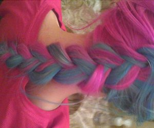 pink, hair, and blue image