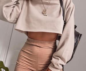 fashion, leggings, and sweater image