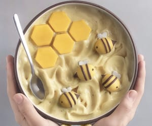 food, yellow, and bee image