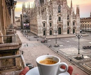 city, coffee, and view image