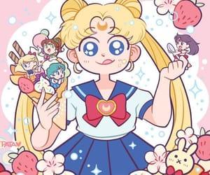 anime, sailor mercury, and sailor moon image