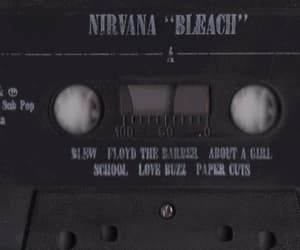 casette, kurt cobain, and nirvana image