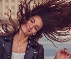 fun, long hair, and happy image