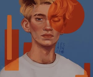 boy, draw, and paint image