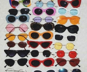 sunglasses, vintage, and glasses image