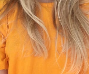yellow, girl, and hair image