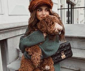 dog, girl, and fashion image