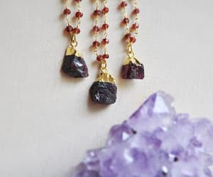 etsy, red jewelry, and birthstone necklace image