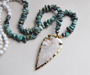green necklace, turquoise jewelry, and turquoise necklace image
