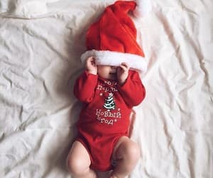baby, christmas, and cute image