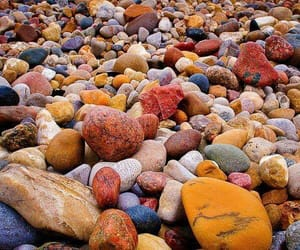 beach, rocky, and nature photography image