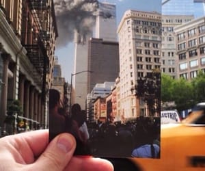 new york, 9 11, and twin towers image