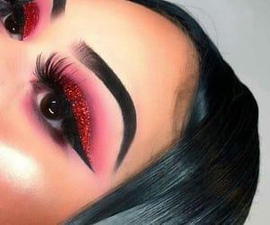 makeup, make, and red image