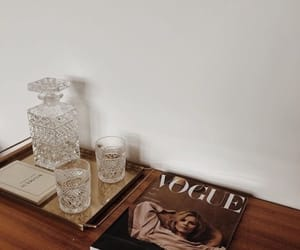 vogue, brown, and magazine image