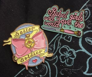 anime, badge, and feminist image
