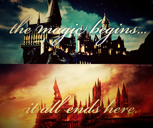 harry potter, hogwarts, and magic image