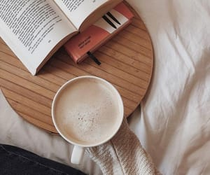 books, coffee, and moment image