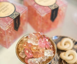 candy, champagne, and sugar bear image