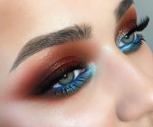 autumn, dark makeup, and glow image